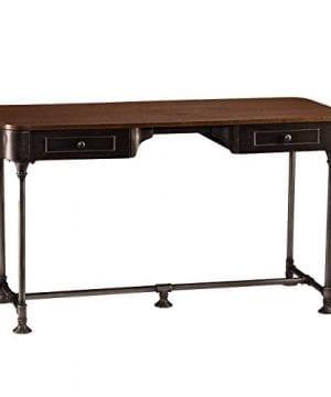 Southern Enterprises Edison Industrial 2 Drawer Desk 50 Wide Dark Tobacco Industrial Gray Finish 0 2 300x360
