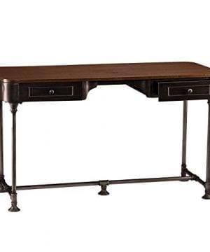 Southern Enterprises Edison Industrial 2 Drawer Desk 50 Wide Dark Tobacco Industrial Gray Finish 0 3 300x360