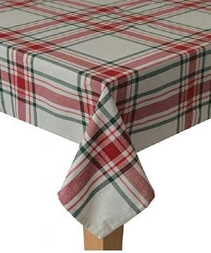 St Nicholas Square Christmas Farmhouse Plaid Tablecloth For Holiday Family Gatherings Christmas Dinner Various Sizes 0 300x360