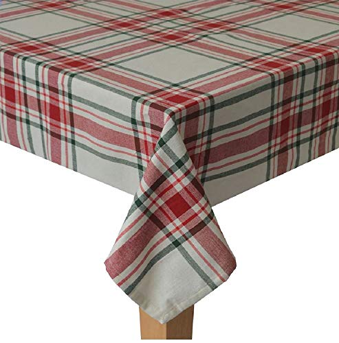 St Nicholas Square Christmas Farmhouse Plaid Tablecloth For Holiday Family Gatherings Christmas Dinner Various Sizes 0