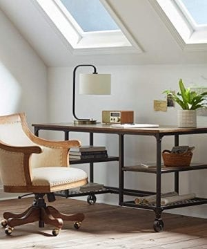 Stone Beam Elias Industrial Metal Desk 60W BrownBlack 0 1 300x360