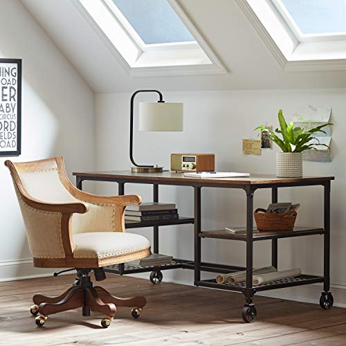 Stone Beam Elias Industrial Metal Desk 60W BrownBlack 0 1