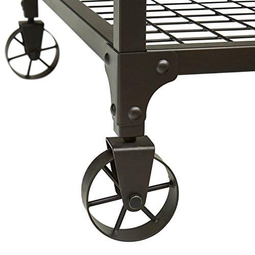 Stone Beam Elias Industrial Metal Desk 60W BrownBlack 0 2