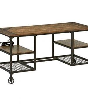 Stone Beam Elias Industrial Metal Desk 60W BrownBlack 0 300x360