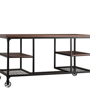 TRIBECCA HOME Nelson Industrial Modern Rustic Storage Desk 0 0 300x360