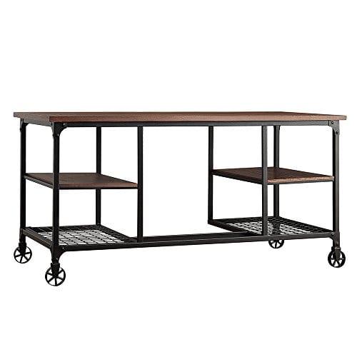 TRIBECCA HOME Nelson Industrial Modern Rustic Storage Desk 0 0