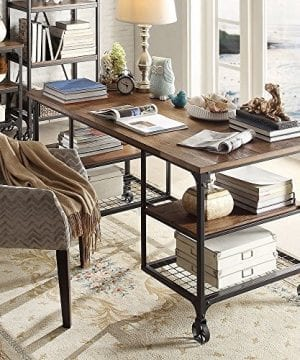 TRIBECCA HOME Nelson Industrial Modern Rustic Storage Desk 0 1 300x360