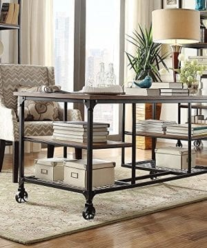 TRIBECCA HOME Nelson Industrial Modern Rustic Storage Desk 0 300x360