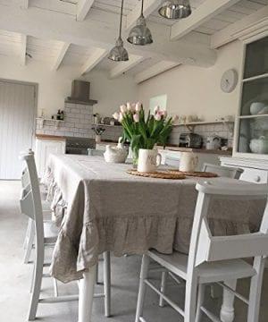 Tablecloth Linen Tablecloth Large Tablecloth Natural Tablecloth Farmhouse Decor Shabby Chic 0 0 300x360