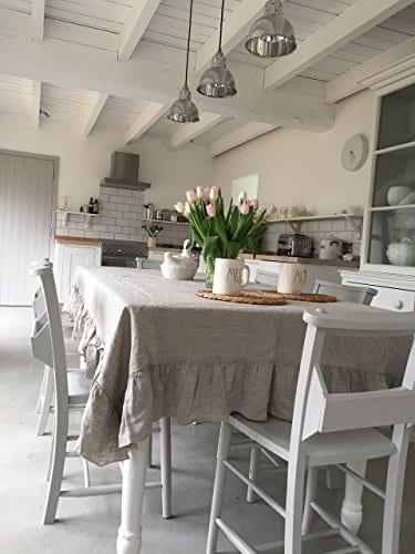 Tablecloth Linen Tablecloth Large Tablecloth Natural Tablecloth Farmhouse Decor Shabby Chic 0 0