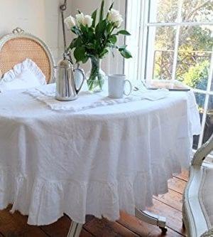 Tablecloth Linen Tablecloth Large Tablecloth Natural Tablecloth Farmhouse Decor Shabby Chic 0 1 300x333