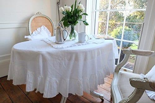 Tablecloth Linen Tablecloth Large Tablecloth Natural Tablecloth Farmhouse Decor Shabby Chic 0 1