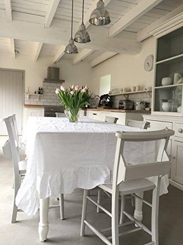 Tablecloth Linen Tablecloth Large Tablecloth Natural Tablecloth Farmhouse Decor Shabby Chic 0