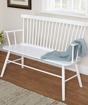 Target Marketing Systems Shelby Bench With Classic Spindle Back And Arms Mint 0 300x360