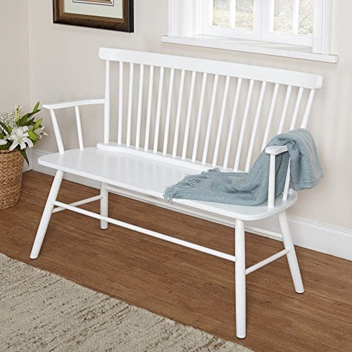 Target Marketing Systems Shelby Bench With Classic Spindle Back And Arms Mint 0