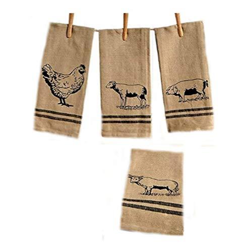 The Lakeside Collection 4 Pc Farmhouse Kitchen Towel Set 0