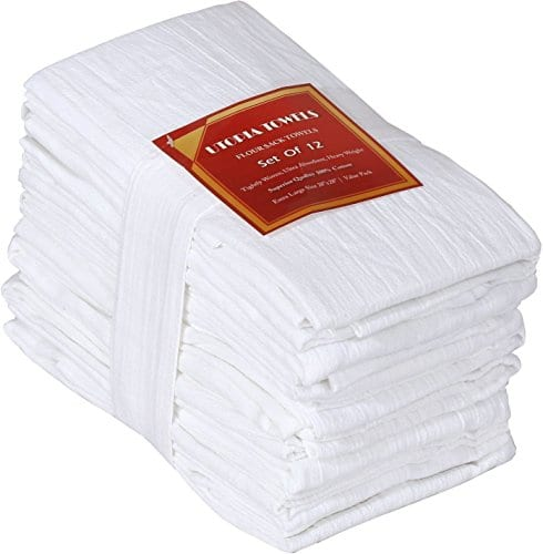 Utopia Kitchen Flour Sack Towels 100 Pure Ring Spun Cotton Kitchen Towels Multi Purpose Highly Absorbent 0
