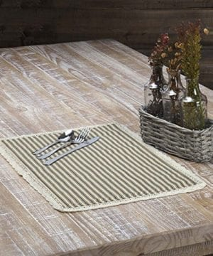VHC Brands Kendra Stripe Placemat 0 0 300x360