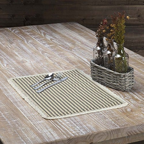VHC Brands Kendra Stripe Placemat 0 0