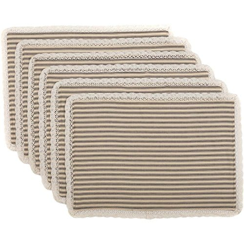 VHC Brands Kendra Stripe Placemat 0