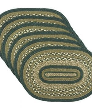 VHC Brands Rustic Lodge Tabletop Kitchen Sherwood Green Jute Placemat Set Of 6 12 X 18 0 300x360