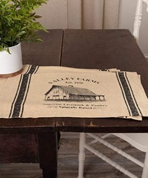 VHC Brands Valley Farms Barn Farmhouse Placemat Set Of 6 12x18 0 0 300x360