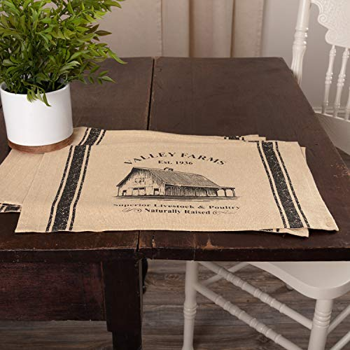 VHC Brands Valley Farms Barn Farmhouse Placemat Set Of 6 12x18 0 0