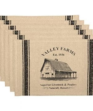 VHC Brands Valley Farms Barn Farmhouse Placemat Set Of 6 12x18 0 300x360