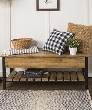 WE Furniture AZ48PCSBGW Open Top Storage Bench 0 300x360
