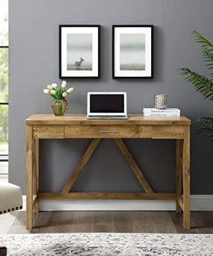 WE Furniture Rustic A Frame Desk 0 300x360