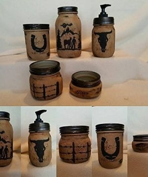 Western Mason Jar Bathroom Set 0 300x360