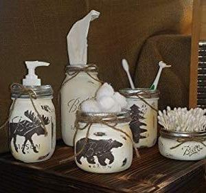 Woodland Mason Jar Bathroom Set 0 300x281