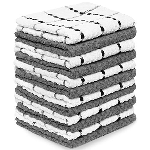Zeppoli Kitchen Towels 12 Pack 100 Soft Cotton 15 X 25 Dobby Weave Great For Cooking In Kitchen And Household Cleaning 12 Pack Cotton 0