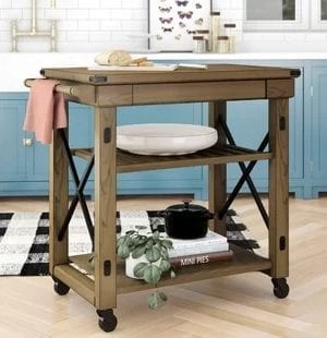 Farmhouse Kitchen Carts and Farmhouse Bar Carts