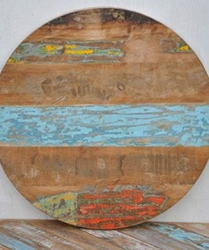 24x 24x 1 Round Rustic Solid Reclaimed Wooden Coffee Table Top Restaurant Furntiure 0 300x360