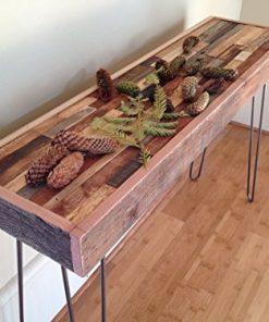 Barn Wood Console Table Modern Reclaimed Rustic Vintage Steel Hairpin Legs Farmhouse Goals