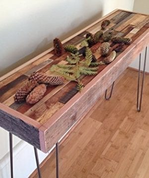 25 OFF SALE 36x12x30 Barn Wood Console Table Industrial Furniture Modern Reclaimed Rustic Wood Vintage Steel Hairpin Legs 0 300x360