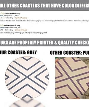 Absorbent Coasters For Drinks Grey Lines On LARGE Ceramic Stone With Cork Backing Drink Spills Thirsty Coaster Set Of 6 No Holder OVERSIZE BETTER Protects Furniture From Damage 0 2 300x360