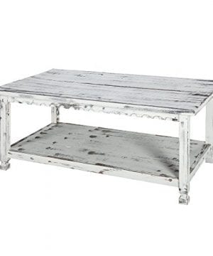 Alaterre ACCA11WA Rustic Cottage Coffee Table White Antique 0 300x360