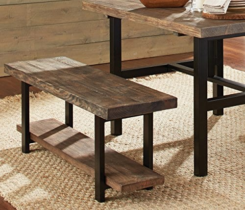 Alaterre AZMBA0120 Sonoma Rustic Natural End Table Brown 0 0