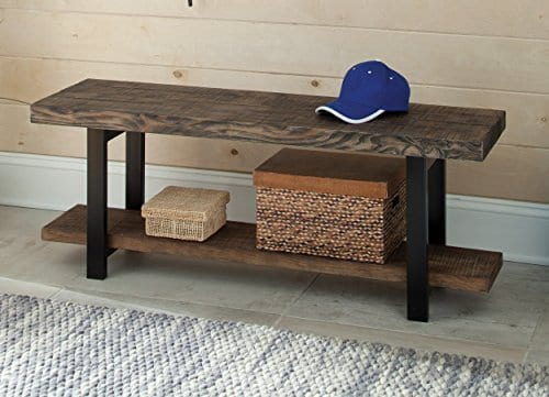 Alaterre AZMBA0120 Sonoma Rustic Natural End Table Brown 0 1