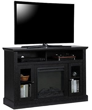 Ameriwood Home 1764412COM Chicago TV Stand With Fireplace 0 0 300x360
