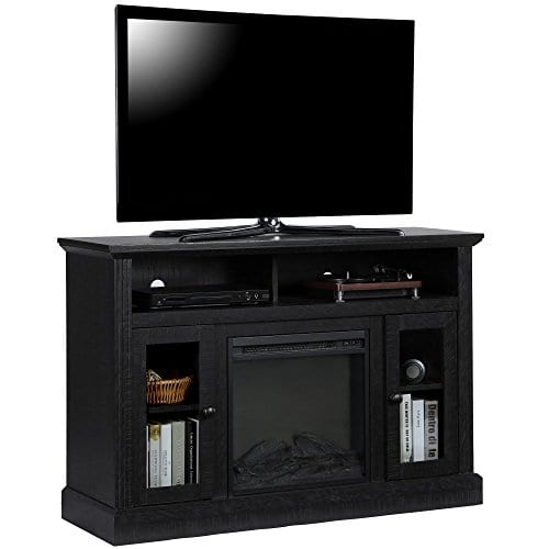 Ameriwood Home 1764412COM Chicago TV Stand With Fireplace 0 0