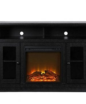 Ameriwood Home 1764412COM Chicago TV Stand With Fireplace 0 1 300x360