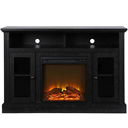 Ameriwood Home 1764412COM Chicago TV Stand With Fireplace 0 1