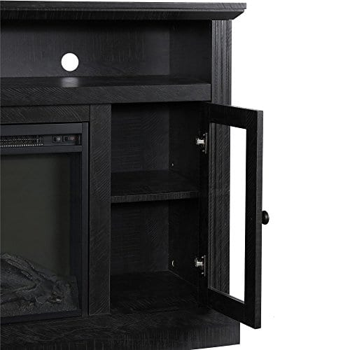Ameriwood Home 1764412COM Chicago TV Stand With Fireplace 0 2