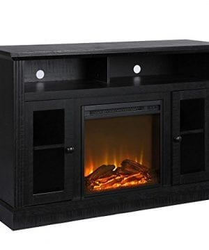 Ameriwood Home 1764412COM Chicago TV Stand With Fireplace 0 300x360