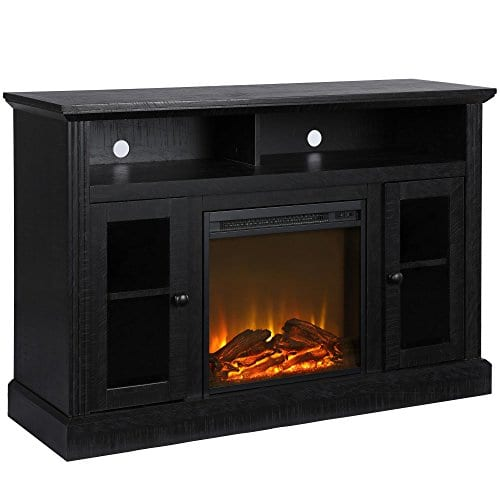 Ameriwood Home 1764412COM Chicago TV Stand With Fireplace 0