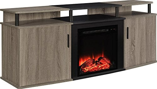 Ameriwood Home Carson Electric Fireplace TV Console TVs 0 0
