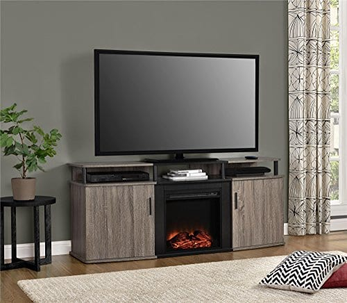 Ameriwood Home Carson Electric Fireplace TV Console TVs 0 2
